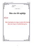 Luận văn: Một số giải pháp xây dựng và phát triển thương hiệu cho Công ty Cổ phần Hương Sen