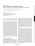 "Báo cáo y học: ""New developments in developmental biology"""