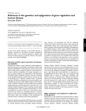 """Báo cáo y học: """" Advances in the genetics and epigenetics of gene regulation and human disease"""""""