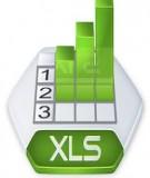 Giáo trình học Excel: BÀI TẬP THỰC HÀNH SỐ 1