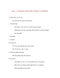 Giáo án Tin Học Văn Phòng: Bài 1: LÀM QUEN VỚI NGHỀ TIN HỌC VĂN PHÒNG
