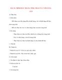 Giáo án Tin Học Văn Phòng: BÀI 23: TRÌNH BÀY TRANG TÍNH: THAO TÁC VỚI HÀNG, CỘT