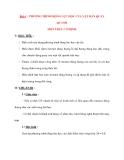 Vật lý 12 Phân ban: Bài 4 : PHƯƠNG TRÌNH ĐỘNG LỰC HỌC CỦA VẬT RẮN QUAY QUANH MỘT TRỤC CỐ ĐỊNH