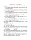 Vật Lý 12: các định luật cơ bản quang học