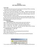 Giáo trình học Excel: Chương I GIỚI THIỆU MICROSOFT EXCEL