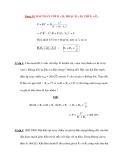 Các dạng bài tập Vật lý 12: Dạng 10: BÀI TOÁN VỚI R = R1 HOẶC R = R2
