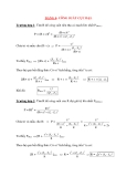 Các dạng bài tập Vật lý 12: DẠNG 4: CÔNG SUẤT CỰC ĐẠI