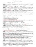 ĐỀ THI THỬ Môn: Vật lý (SỐ 2)
