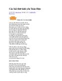 Các bài thơ tình yêu Toán Học