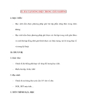 Vật lý 11 chương trình nâng cao: 35. BÀI TẬP DÒNG ĐIỆN TRONG CHÂN KHÔNG