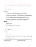 Vật lý 11 Bài: Phương pháp giải một số bài toán về Toàn Mạch