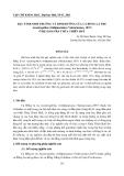"""Báo cáo nghiên cứu khoa học đề tài """" ĐẶC TÍNH SINH TRƯỞNG VÀ DINH DƯỠNG CỦA CÁ BỐNG LÁ TRE Acentrogobius viridipunctatus (Valenciennes, 1837) Ở HỆ ĐẦM PHÁ THỪA THIÊN HUẾ """""""