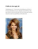 5 kiểu tóc hot cho ngày hè năng động