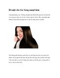Bí mật cho tóc bóng mượt hơn