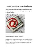 Thương mại điện tử – mười điều cần biết