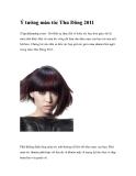 Ý tưởng màu tóc Thu Đông 2011