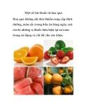 Một số bài thuốc hay từ hoa quả