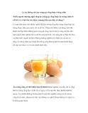 Những Lý do không nên ăn trứng gà sống hoặc trứng chần