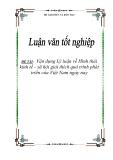 ĐỀ TÀI:   Vận dụng Lý luận về Hình thái kinh tế - xã hội giải thích quá trình phát triển của Việt Nam ngày nay