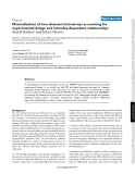 """Báo cáo y học: """"Normalization of two-channel microarrays accounting for experimental design and intensity-dependent relationships"""""""