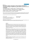 """Báo cáo y học: """"Modulation of gene expression in drug resistant Leishmania is associated with gene amplification, gene deletion and chromosome aneuploidy"""""""