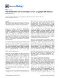 "Báo cáo y học: ""Floral induction and monocarpic versus polycarpic life histories"""