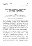"""Báo cáo sinh học: """" Directional selection on body weight and hybrid dysgenesis in Drosophila melanogaster"""""""