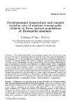 """Báo cáo sinh học: """" Developmental temperature and somatic excision rate of mariner transposable element in three natural populations of Drosophila simulans"""""""