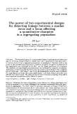 """Báo cáo sinh học: """"The power of two experimental designs for detecting linkage between a marker locus and a locus affecting a quantitative character in a segregating population"""""""