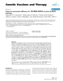 """Báo cáo sinh học: """"Improve protective efficacy of a TB DNA-HSP65 vaccine by BCG priming"""""""