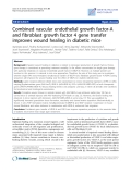 """Báo cáo sinh học: """"Combined vascular endothelial growth factor-A and fibroblast growth factor 4 gene transfer improves wound healing in diabetic mice"""""""