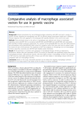 """Báo cáo sinh học: """"Comparative analysis of macrophage associated vectors for use in genetic vaccine"""""""
