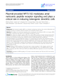 """Báo cáo sinh học: """" Plasmid-encoded NP73-102 modulates atrial natriuretic peptide receptor signaling and plays a critical role in inducing tolerogenic dendritic cells"""""""