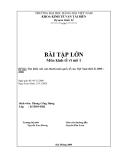 """Đề bài """" Tìm hiểu cán cân thanh toán quốc tế của Việt Nam thời kì 2000 – 2006 """""""