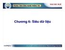 Kho dữ liệu và Hệ hỗ trợ quyết định ( Nguyễn Thanh Bình ) - Chương 6