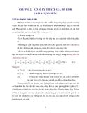 MÔ HÌNH CHẤT LƯỢNG NƯỚC - CHƯƠNG 2