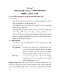 Bài giảng MÔ HÌNH CHẤT LƯỢNG NƯỚC - CHƯƠNG 3