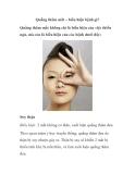 Quầng thâm mắt – biểu hiện bệnh gì?