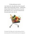 Trữ thực phẩm những ngày mưa bão
