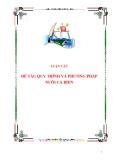 Đề tài: Quy trình và phương pháp nuôi cá biển