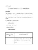 Bài tập 09  BÀI TẬP ĐỊNH LUẬT II - III NEWTON