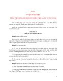 LUẬT CƠ QUAN ĐẠI DIỆN NƯỚC CỘNG HÒA XÃ HỘI CHỦ NGHĨA VIỆT NAM Ở NƯỚC NGOÀI