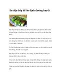 Ăn đậu bắp giúp ổn định đường huyết
