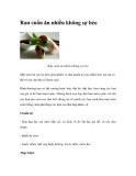 Rau cuốn ăn nhiều không sợ béo