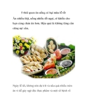 5 thói quen ăn uống có hại mùa lễ tết