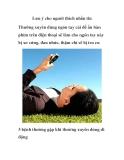 Lưu ý cho người thích nhắn tin