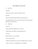 GIÁO ÁN MÔN LÝ: Bài 14. ĐỊNH LUẬT I NIU-TƠN