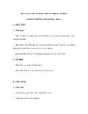 GIÁO ÁN LÝ: Bài 2. VẬN TỐC TRONG CHUYỂN ĐỘNG THẲNG CHUYỂN ĐỘNG THẲNG ĐỀU (Tiêt 1)