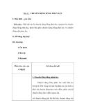 Bài 41: CHUYỂN ĐỘNG BẰNG PHẢN LỰC