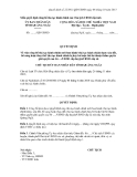 Mẫu QUYẾT ĐỊNH Về việc công bố thủ tục hành chính mới ban hành/ thủ tục hành chính được sửa đổi, bổ sung hoặc thay thế/ thủ tục hành chính bị hủy bỏ hoặc bãi bỏ thuộc thẩm quyền giải quyết của Sở